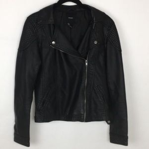 Forever 21 Faux Leather Moto Jacket * Small